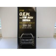 Масло моторное 5W30 MANNOL OEM VAG 504/507 5L