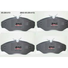 Комплект тормозных колодок, дисковый тормоз  BSG