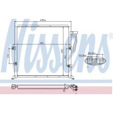 Радиатор кондиционера NISSENS BMW 3