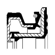 Сальник хвостовика редуктора заднего моста 60x90x14/16.3 (CORTECO) IVECO DAILY  60x90x14/16.3