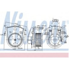 Вентилятор салона (NISSENS) VW GOLF VARIANT 1.9