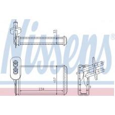 Радиатор печки салона 234 X 157 X 33 mm (пр-во NISSENS) VW Golf || 83-, Passat 87- , Caddy ||