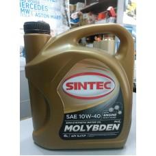 Масло моторное 10W40 c Молибденом 4L (пр-во SINTEC) CF-4/CF/SJ полу-синтетика
