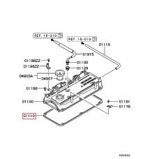 Прокладка клапанной крышки + кольца свечных колодцев MD310913 (AJUSA) Chery Tiggo, Eastar 2.0, 2.4L