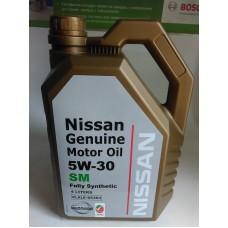 Масло моторное 5W30 Genuine Motor Oil SM (пр-во NISSAN) 4L.