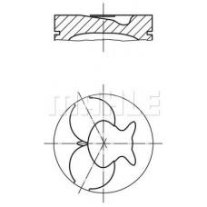 Поршень с кольцами (пр-во MAHLE) Mercedes Sprinter 96- 2.3 D / MB 208-310 2,3-2.9 D