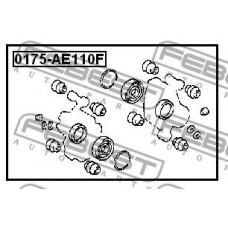 Ремкомплект, тормозной суппорт перед (FEBEST) TOYOTA COROLLA 1995-2000