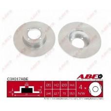 Диск переднего тормоза (ABE) OPEL RECORD