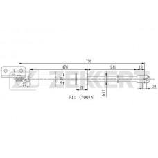 Амортизатор багажника левый (ZEKKERT)  Starex/H-1 96-, 81780-4A100