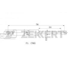 Амортизатор багажника правый (ZEKKERT)  Starex/H-1 96-, 81790-4A100