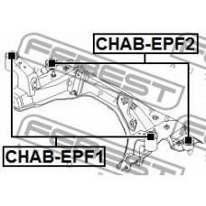 Сайлентблок передний подрамника переднего к-т 2шт (FEBEST) CHEVROLET EPICA