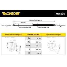 Амортизатор багажника (MONROE) FORD, MERCEDES