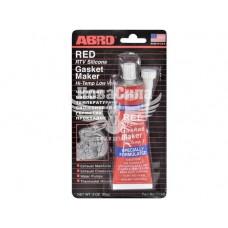 Герметик красный высокотемпературный (пр-во ABRO) 85g 58103