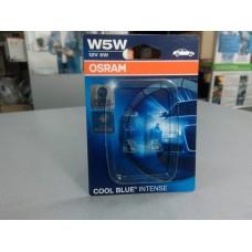 Лампа автомобильная к-т 2 шт (OSRAM) 12V W5W COOL BLUE INTENSE