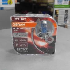 Лампа галогенная H4-12V (пр-во OSRAM Night Breaker Laser) DUO BOX, +150%,