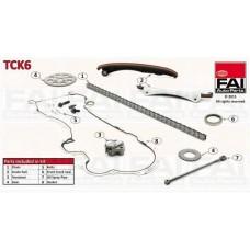 К-кт ГРМ Fiat Dodlo 1.3 JTD 16V 05.04- (2 шестерні+цеп+натяжник+2 направляючі+прокла (FAI AutoParts)