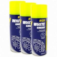 Белая литиевая смазка аэрозоль для петель, замков и т.п. Mannol White Grease 0.45L