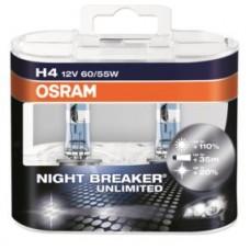 Лампа галогенная NIGHT BREAKER UNLIMITED H4 12V 60/55W P43t (Duo Box) OSRAM